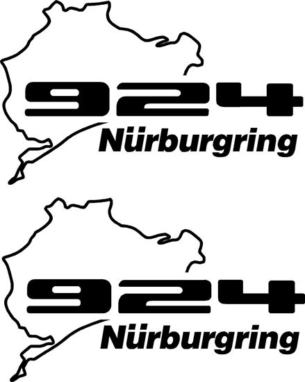 Picture of Porsche 924 Nurburgring Decals Stickers