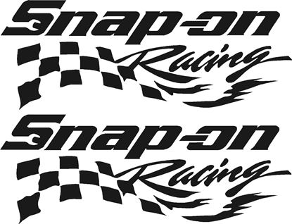 """Picture of """"Snap On Racing"""" Decals / Stickers"""