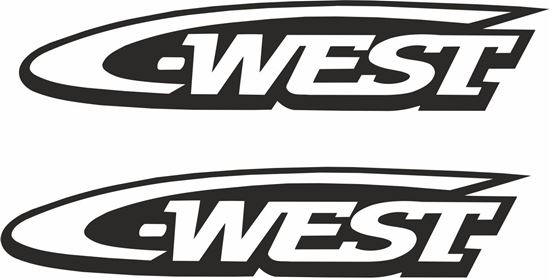 "Picture of ""C West""Decals / Stickers"
