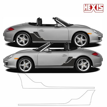 Picture of Porsche Boxster 2005 987  / S / Black edition   Pre Cut PPF  sill / side arch Stone Guards