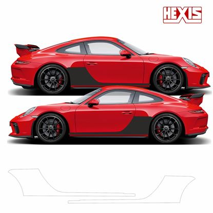 Picture of Porsche 911 / 991 2012- 2019 Carrera/ 4GTS / Targa Pre Cut PPF sill / side arch Stone Guards