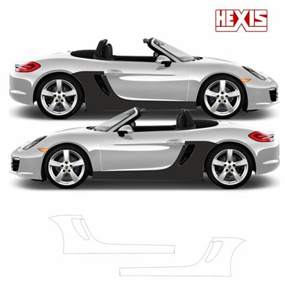 Picture of Porsche Boxster 981 2013 Pre Cut PPF  sill / side arch Stone Guards