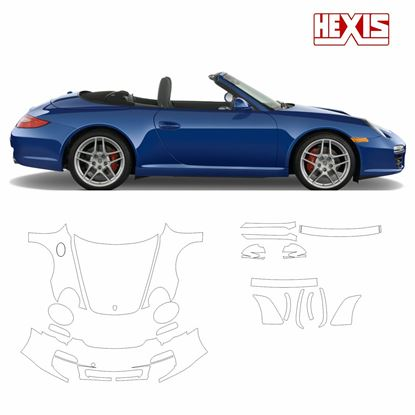 Picture of 911 / 997 2009 Carrera S / 4 / 4S  Pre Cut PPF full front and side protection