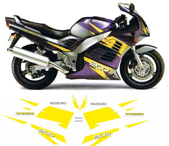 Picture of Suzuki RF900R 1996 replacement Decals / Stickers