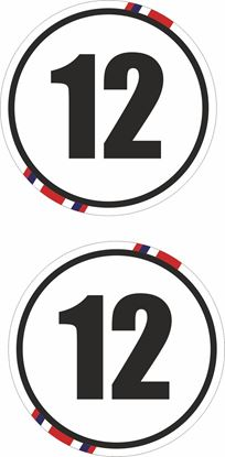 Picture of Great Britain Door / Panel  Numbers  Stickers / Decals