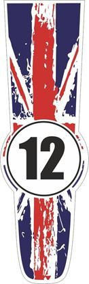 Picture of Great Britain Bonnet Track Number Stripe Sticker / Stripe