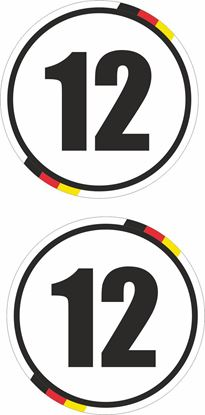 Picture of Germany Door / Panel  Numbers  Stickers / Decals