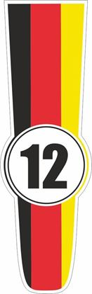 Picture of Germany Bonnet Track Number Stripe Sticker / Stripe