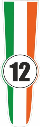 Picture of Ireland Bonnet Track Number Stripe Sticker / Stripe