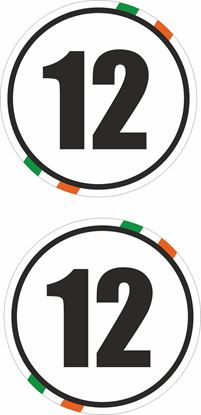 Picture of Ireland  / Panel Door  Numbers  Stickers / Decals