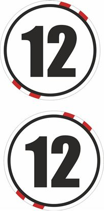 Picture of Switzerland Door  / Panel  Numbers  Stickers / Stripe Decals