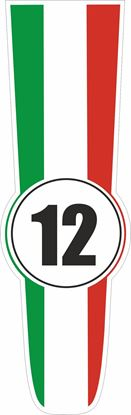 Picture of Italy Bonnet Track Number Stripe Sticker / Stripe