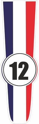 Picture of France Bonnet Track Number Stripe Sticker / Stripe