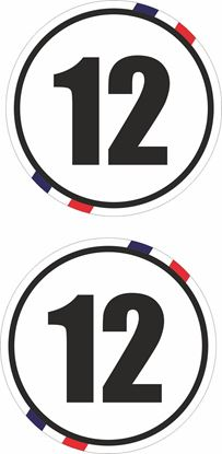 Picture of France Door  / Panel  Numbers  Stickers / Stripe Decals