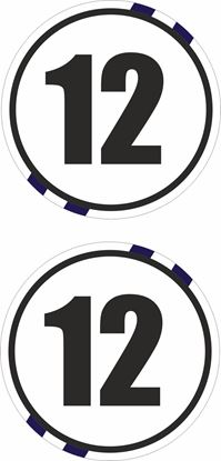 Picture of Scotland Door  / Panel  Numbers  Stickers / Stripe Decals