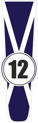 Picture of Scotland Bonnet Track Number Stripe Sticker / Stripe