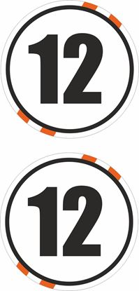 Picture of Custom Colour Door  / Panel  Number  Stickers / Stripe Decals