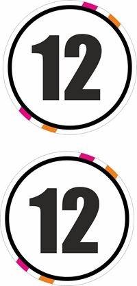 Picture of Custom Colours Door  / Panel  Number  Stickers / Stripe Decals
