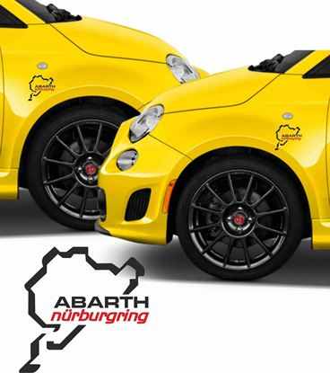 Picture of Fiat Abarth Nurburgring Stickers / Decals
