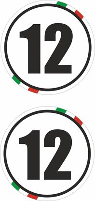 Picture of Italy Door  / Panel  Numbers  Stickers / Decals