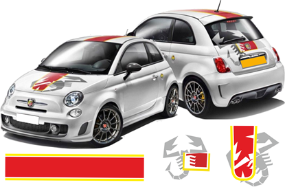 Picture of Fiat 500 / 595 Abarth Scorpion OTT Stripes / Stickers
