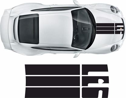 Picture of Porsche 911 / 991  2011 on Bonnet  Stripe / Sticker