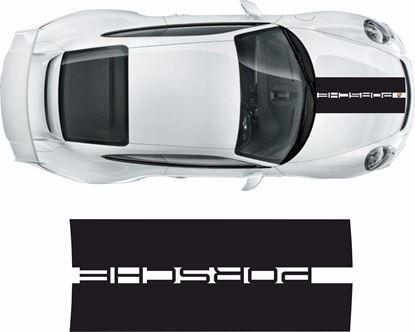 Picture of Porsche 911 / 991  2011 on Bonnet  Stripe / Sticker FITS ALL PORSCHE CARS