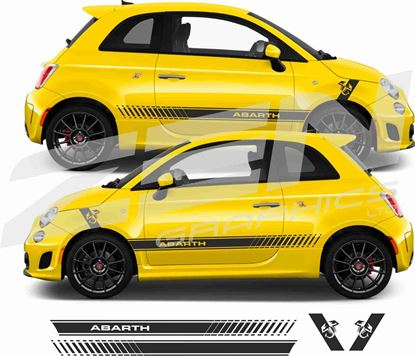 Picture of Fiat  595 / 595 Abarth side & wing Stripes / Stickers