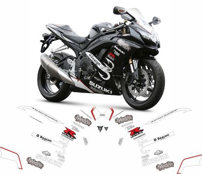 Picture of Suzuki GSX-R 600 K6  2006 - 2007 Relentless race replica Decals / Sticker kit