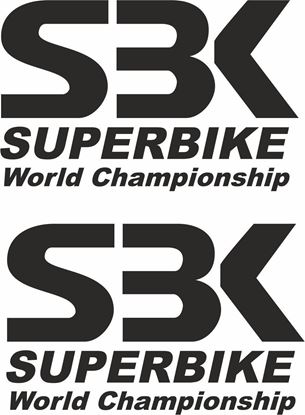 "Picture of ""SBK.."" Track and street race sponsor logo"
