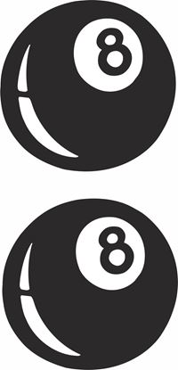 """Picture of """"8 Ball"""" Track and street race sponsor logo"""