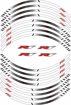 Picture of Yamaha R1 Wheel Rim Decals / Stickers
