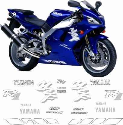 Picture of Yamaha YZF R1 1998 - 2001 Replacement Decals / Stickers