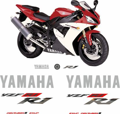 Picture of Yamaha YZF R1 2002 Replacement Decals / Stickers