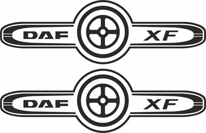 Picture of DAF XF  panel / glass Decals / Stickers