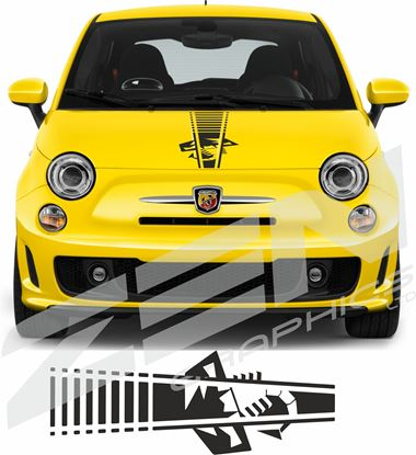 Picture of Fiat  500 / 595  Abarth Bonnet Stripe / Sticker