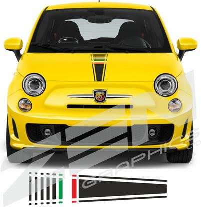 Picture of Fiat  500 / 595  Italia Bonnet Stripe / Sticker
