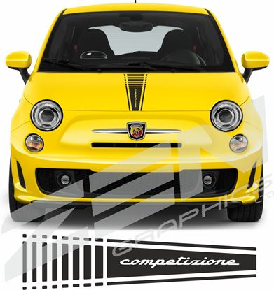 "Picture of Fiat  500 / 595  Abarth ""Competizione"" Bonnet Stripe / Sticker"