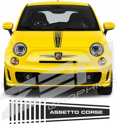 "Picture of Fiat  500 / 595  Abarth ""Assetto Course"" Bonnet Stripe / Sticker"