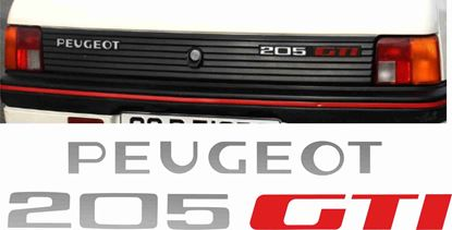 Picture of Peugeot 205 GTi Badge restoration overlay Stickers / Decals