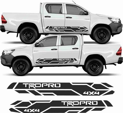 "Picture of Toyota Hilux ""TRD Pro 4x4"" side graphics / Stickers"