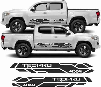"Picture of Toyota Tacoma Double Cab  ""TRD Pro 4x4"" side graphics / Stickers"