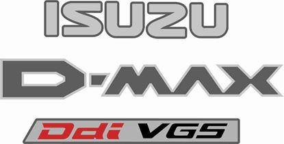 Picture of Isuzu D-Max  replacement rear Decals / Stickers