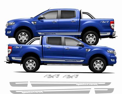 Picture of Ford Ranger Wildtrak Stripes & 4x4  Stickers