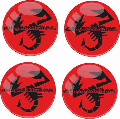 Picture of Fiat 500 / 595 Abarth wheel centre cap adhesive Badges OE size