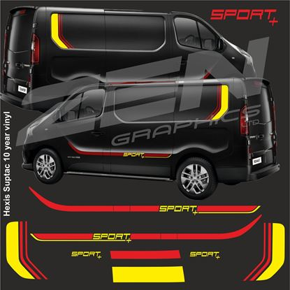 Picture of Renault Trafic Full Graphics kit - Sport+ 2 Colour Version