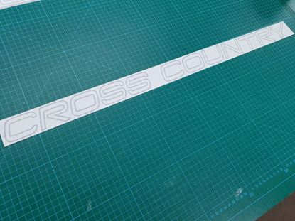 "Picture of Volvo XC90 /  XC70 ""Cross Country"" replacement rear lower hatch lid Decal / Sticker"