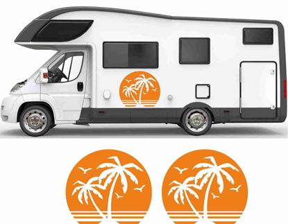 Picture of Palms and Sun General panel Decals / Stickers