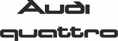 Picture of Audi B2 80 / S1 /  Quattro  replacement rear hatch lid Decals / Stickers