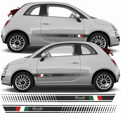 Picture of Fiat 500c Italian side Stripes / Stickers
